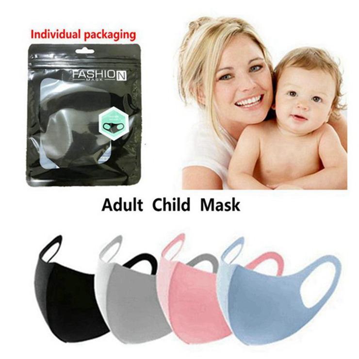 Anti Toz Yüz Ağız Kapak PM2.5 Maske Maske toz geçirmez anti-bakteriyel Yıkanabilir Yeniden kullanılabilir Buz İpek Pamuk Maskeler Yetişkin Çocuk Maskesi 600pcs