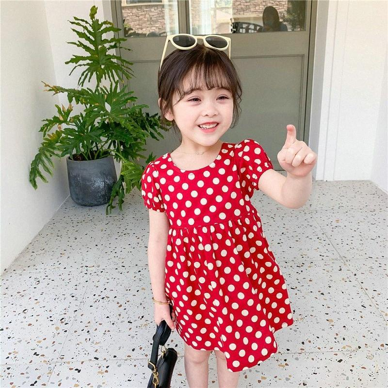 2Corlours Toddler Baby Girl Summer 2020 Party Dress Pattern Kids Polka Dot Tutu Dress For Children Dance Clothes 0OEp#