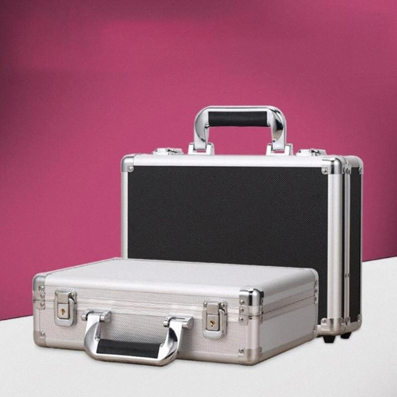 Aluminum Hard Case Briefcase Silver / Black Toolbox Carrying Case with Cloth Lining Flight Cases Portable Equiment Tool BUxi#