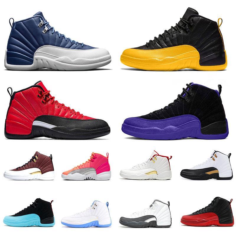 Nike air jordan 11 12s Neue 6 4s Mensbasketballschuhe Gym rot Bulls Flu Spiel Taxi BORDEAUX College-Marine Dunkelgrau-Männer Sport-Turnschuhe Größe 7-13