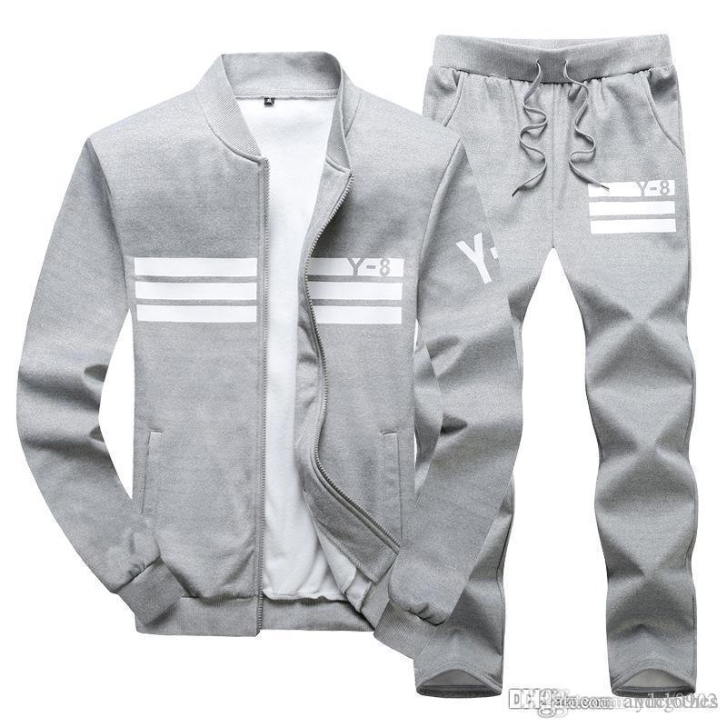 Pantolon Suit Hip Hop Standı yaka hırka Tasarımcı eşofmanlar ile lüks eşofman Erkek Ter Suits takımları koşucu Ceketler