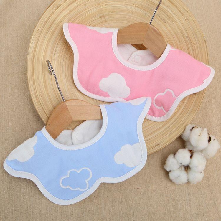 Cotton pettorina impermeabile rotazione nuvola bavaglino tovagliolo della saliva garza di cotone asciugamano saliva del bambino