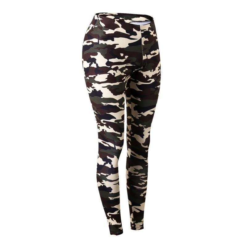 Pantalones mujeres Quicking-seco de formación camuflaje Mujer de ejercicio pantalones de mujer elásticos aptitud Legging Sportswear