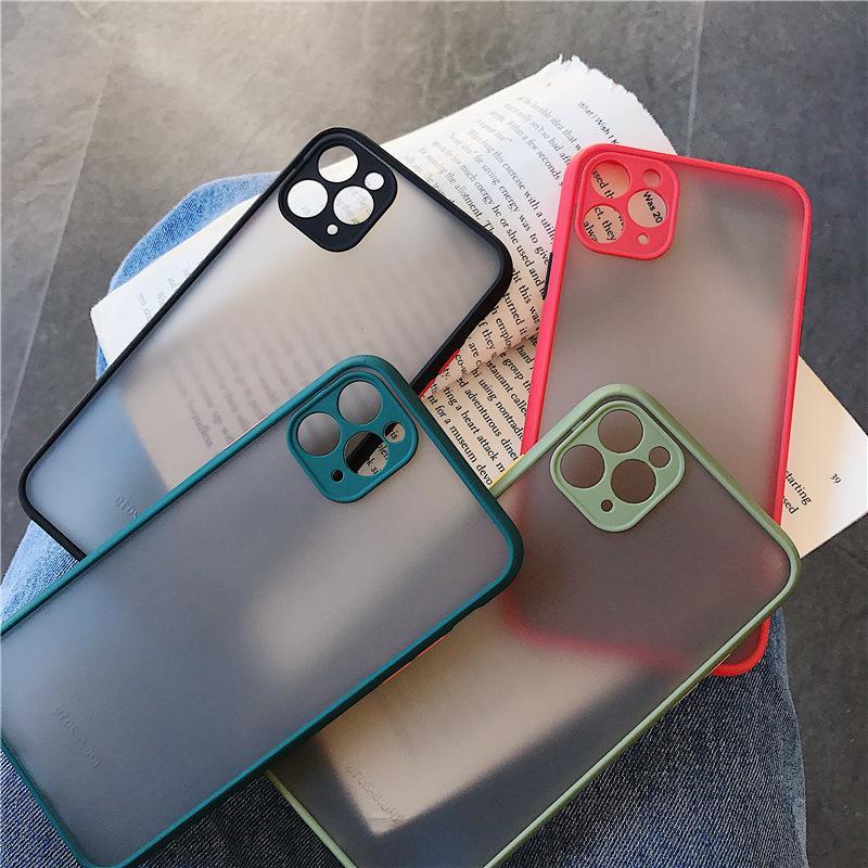 Telefone fosco caso para iphone 12 mini 11 pro max x xs xr 8 7 6s plus se 2020
