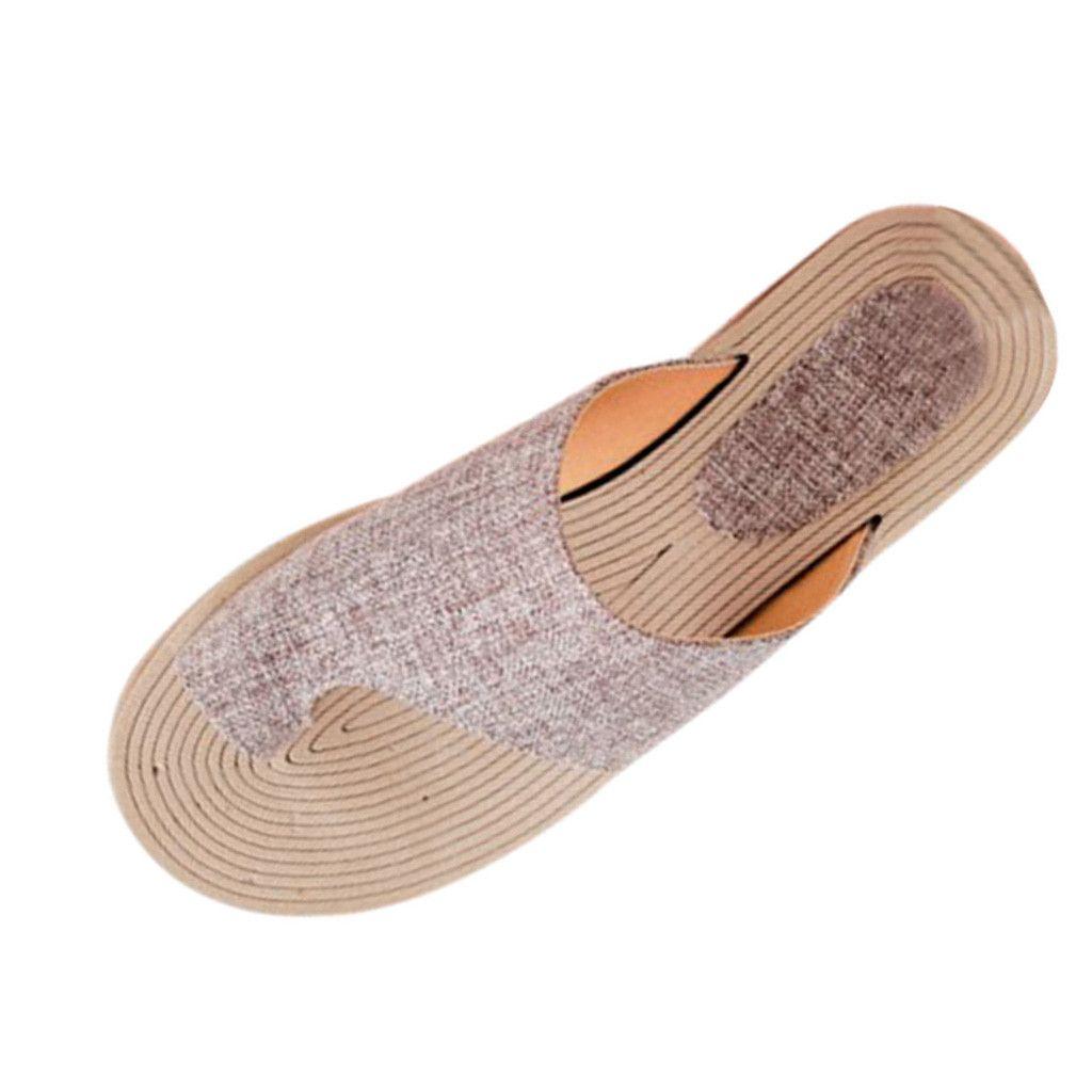 SAGACE chaussures plates été pantoufles mode femmes plage pantoufles Les rondes à bout ouvert chiquenaude romaine flops nouvelle inscription 2020