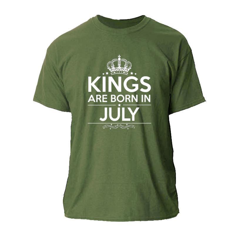KINGS divertenti sono nata nel luglio 2020 UOMINI MAGLIETTA ESTATE MAGLIETTA PER GLI UOMINI DONNE S-3XL HOMME UNISEX MAGLIETTA UOMO O COLLO HIPHOP