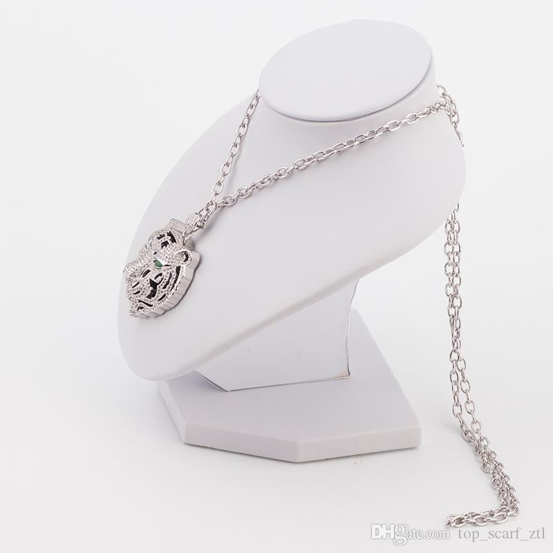 Collar del tigre mujeres del diamante de los hombres hechos a mano joyería y accesorios animales de la joyería