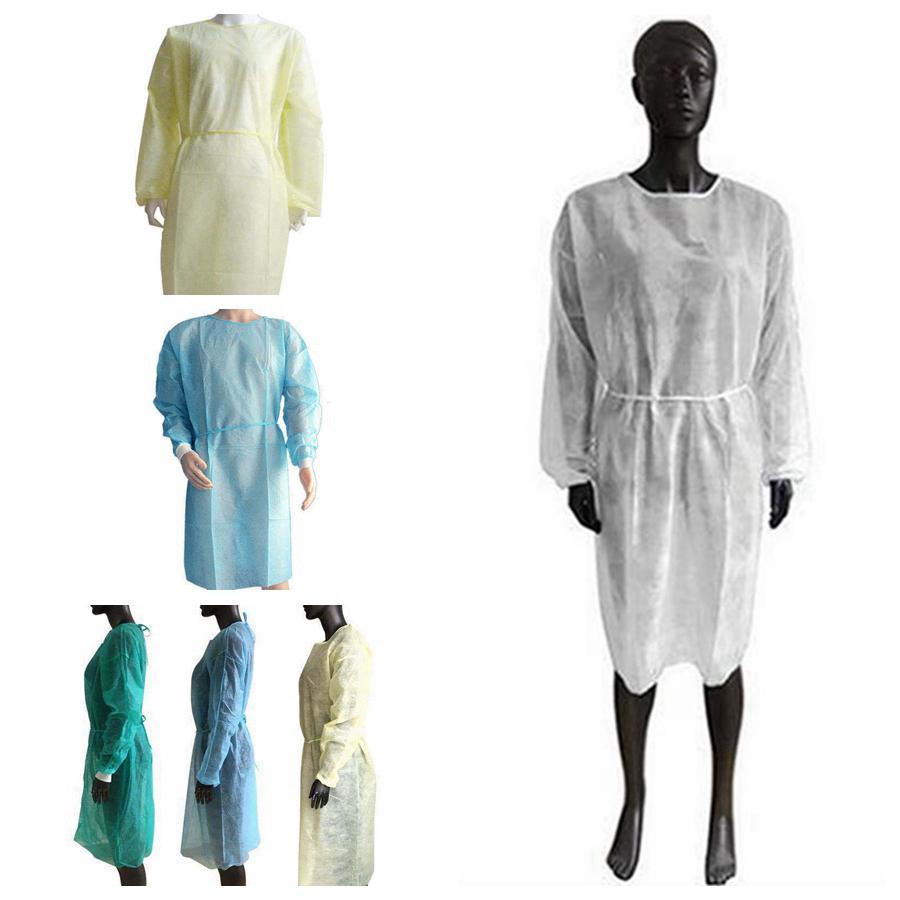 غير المنسوجة الملابس الواقية المتاح عزل أثواب الملابس البدل مكافحة الغبار في الهواء الطلق ملابس واقية المتاح معطف واق من المطر RRA3381-1
