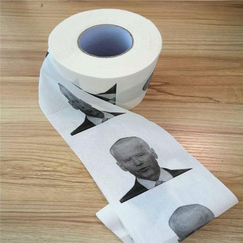 Novedad, Joe Biden, papel higiénico rollo de moda divertida del humor regalos de la mordaza Cocina Baño de pulpa de madera papel higiénico impreso servilletas de papel DBC BH3890
