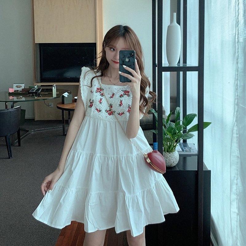 2020 2020 Beyaz Çiçek Dantel Genç Kız Elbise 16 Yaşında Çocuk Çocuk Prenses Kostüm 8aSX #