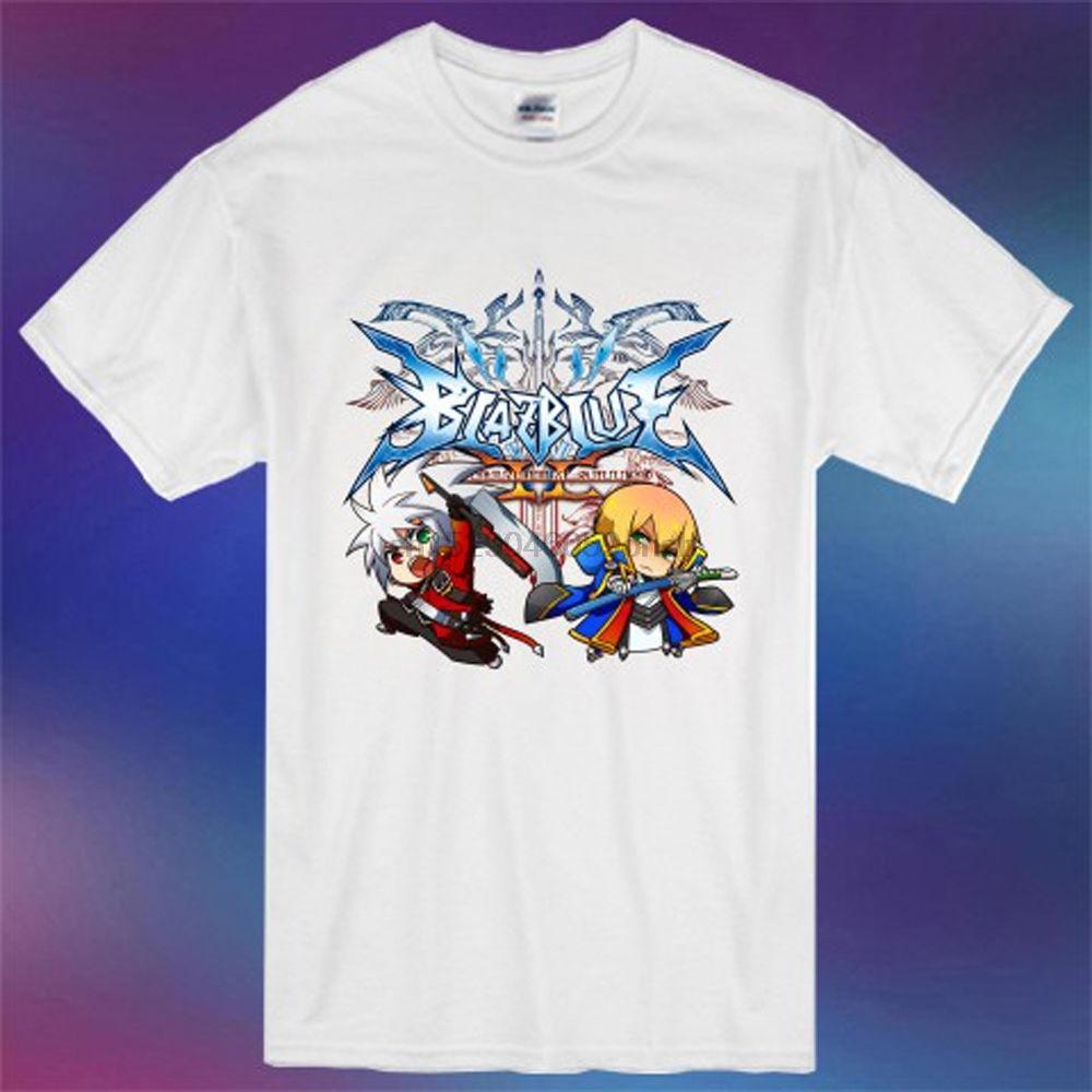 New Blazblue Ragna Jin Kisaragi Chibi Logo Spiel MenWhite T-Shirt Größe S-3XL