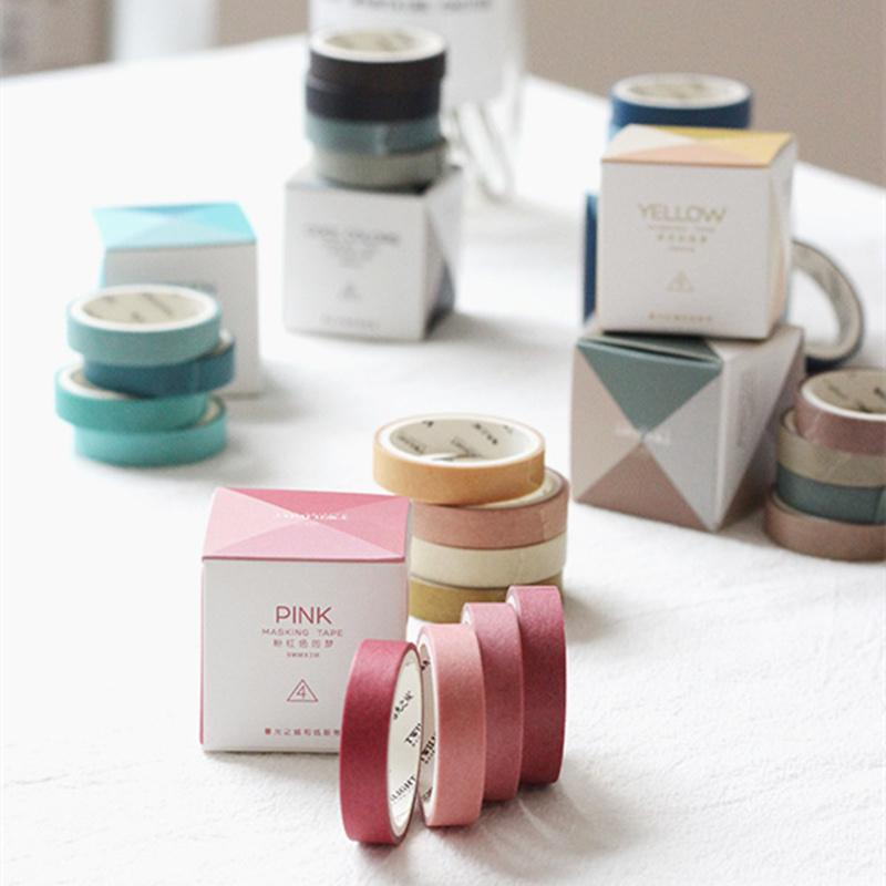 72 pcs/Lot Love with color paper washi tape 9mm deco masking tapes Diary book marker tag memo sticker frame Stationery A6729
