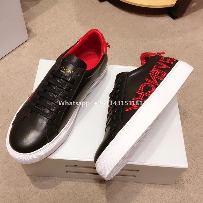 Moda clásica para hombre zapatillas de deporte inversa en cuero zapatos cómodos zapatos para caminar al aire libre bajo tapa del cordón -Up lujo ocasionales Zapatos de Venta