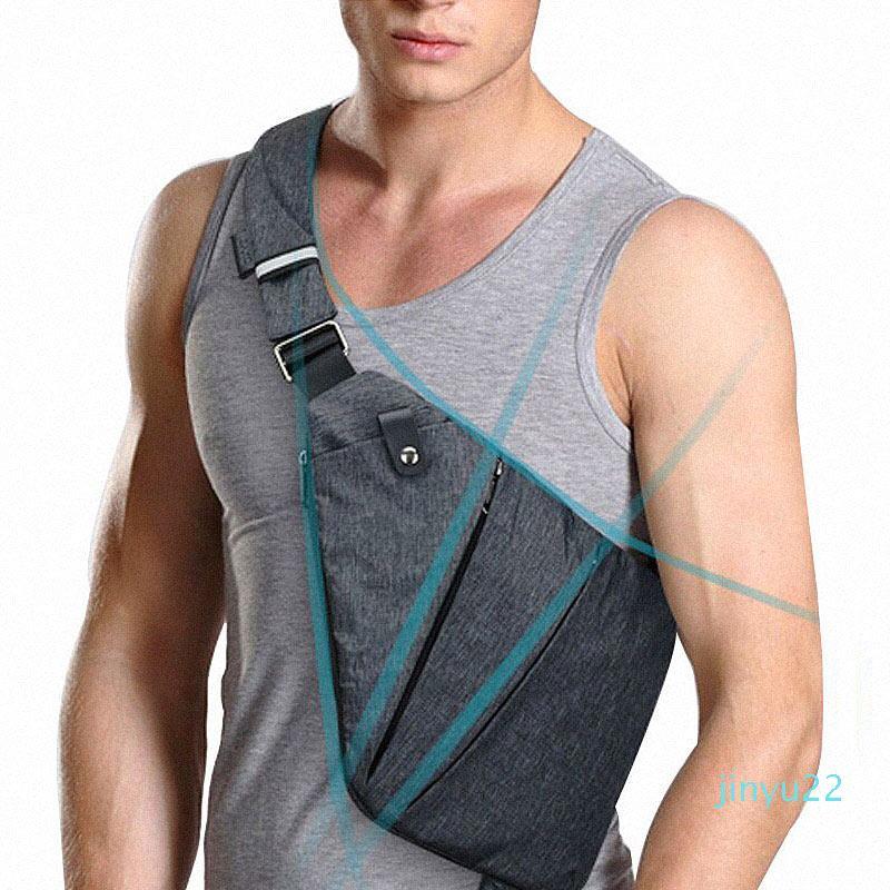 Designer- compactos bolsos de hombro bolsa de mensajero de los hombres antirrobo invisible viajes versátil resistente al agua bolsa ocasional personal ajustada