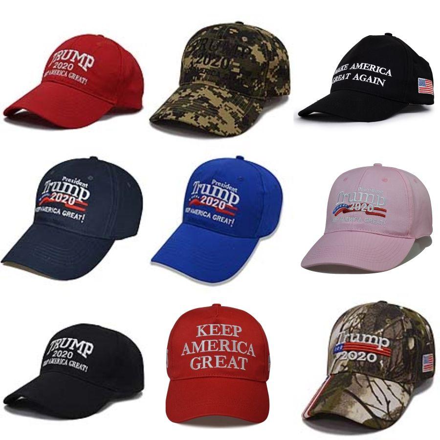 Envio Donald Trump Camouflage Hat 2020 Keep America Grande Caps ajustável chapéus de basebol bordado 3D presidente Cap Snapback L238FA # 145