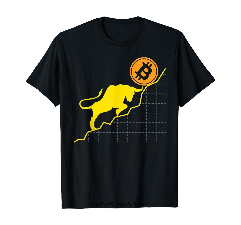 erkekler için yeni moda trendi Bitcoin Trader Kripto Varlık Tüccar Bull Trend Sanat t gömlek