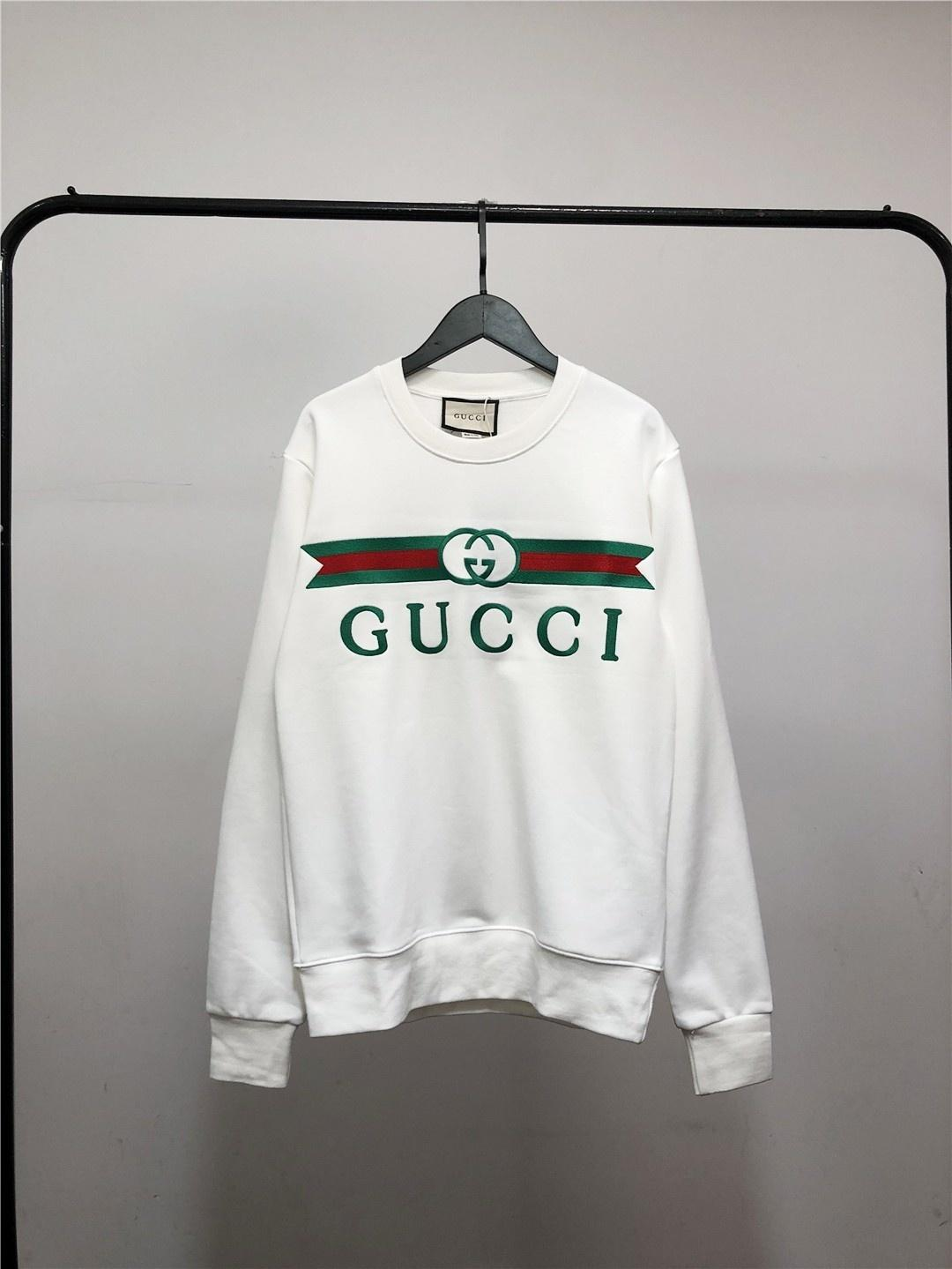 2020 люксовые бренды с капюшоном Классический мужской дизайнер балахон фуфайки хлопка вокруг шеи пустой пуловер открытый S-2XL 723