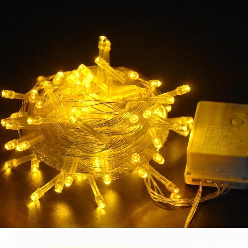 Noel ağacı led ışıkları Su geçirmez Peri Işıklar 100M 800LEDs 8 Modları AC220V Ev Bahçe Partisi Perde Dekorasyon Aydınlatma