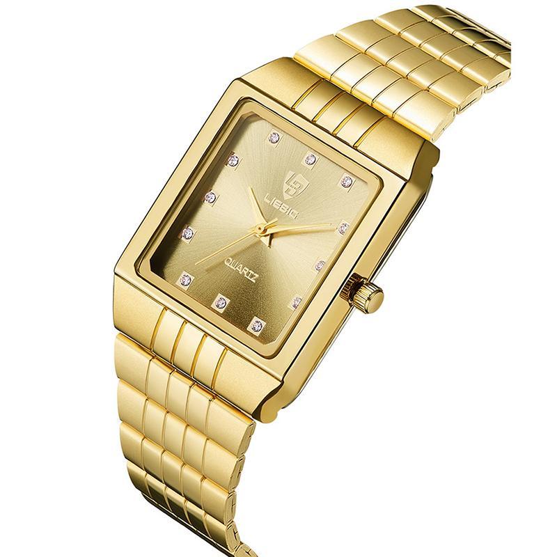 SKMEI Luxus Thin-Frauen-Uhr-Armband-Quarz-Armbanduhr-goldene Damen Uhr Relogio Feminino Mädchen-Dame-Woman Uhren 8808