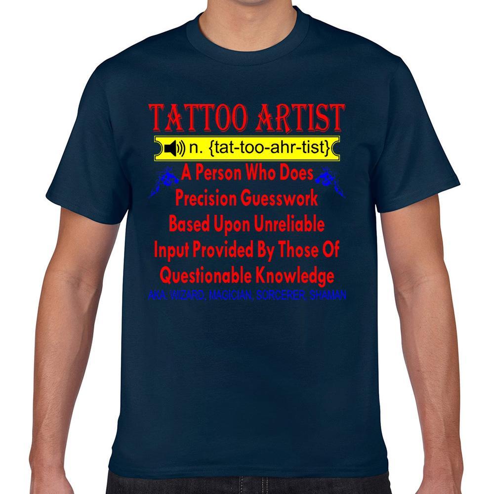 Tops T Shirt Men definir tatuador whitetigerllccom Masculino Casual Preto Curto Camiseta