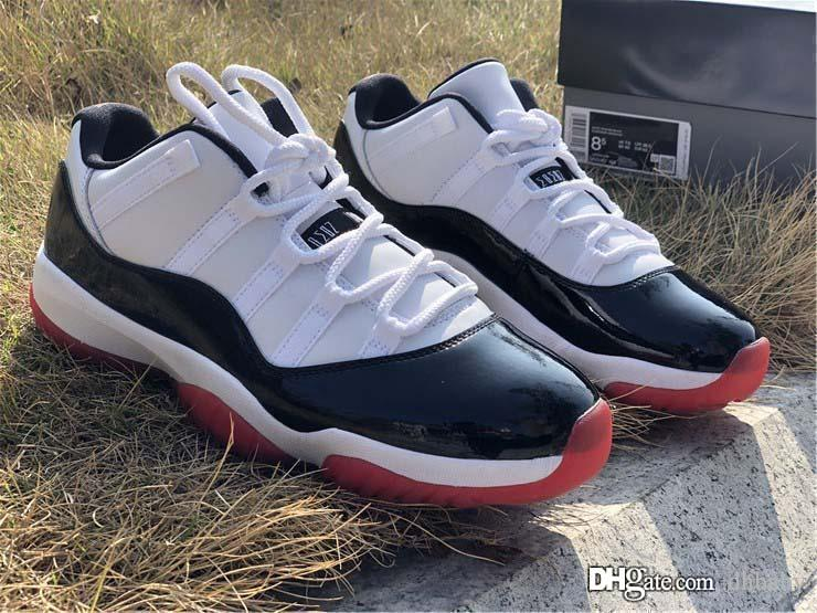 Top Quality Air Authentic 11 Low White Bred Man Basketball Shoes 11S Men Black True Red Retro Athletic Sneakers With Original Box AV2187-160