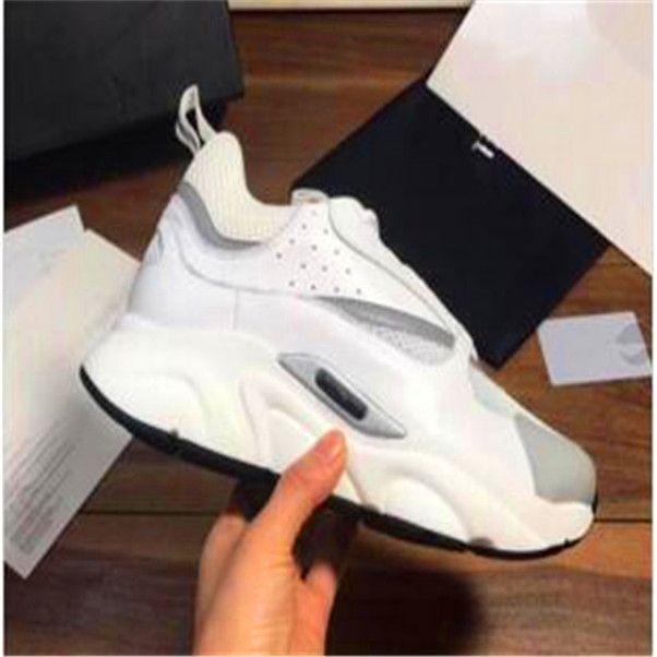 Мужчины Женщины Холст телячья кожа Повседневная обувь Sneaker Мода Белый Розовый 22 Hommer Технический Knit Mesh шлепанцы Chaussures mxz49