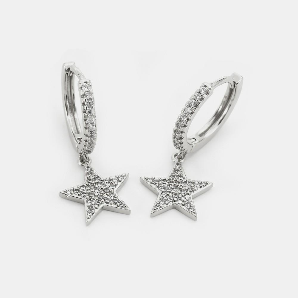 Luxus-Designer-Schmuck Frauen Ohrringe Schmetterling Herz Stern Diamant-Ohrringe Kupfer mit Gold eleganten Charme Ohrringe für Mädchen Hoop plattierte