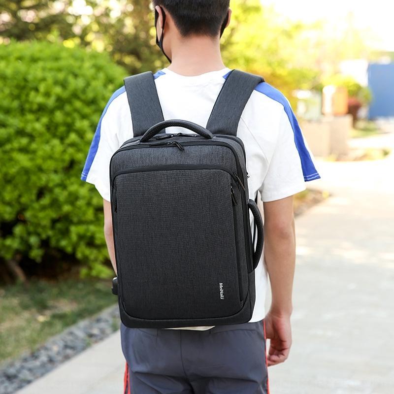 Unternehmen multifunktionale Doppel Schulter Laptop-Computer Laptop-Tasche Tasche neuer Online-Shop USB-Herren-Business-Notebook-Rucksack