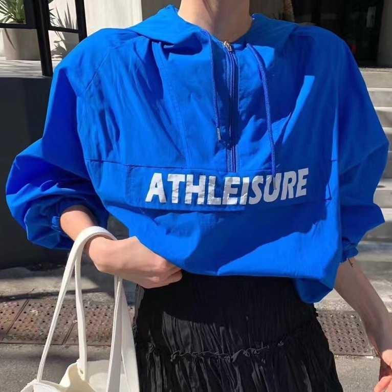 OsP1o Coreia do Sul East Gate Sunscreen Brasão casaco corta-vento roupas protetor solar temporada das mulheres luz tampa respirável vento preguiçoso wi esportes soltos
