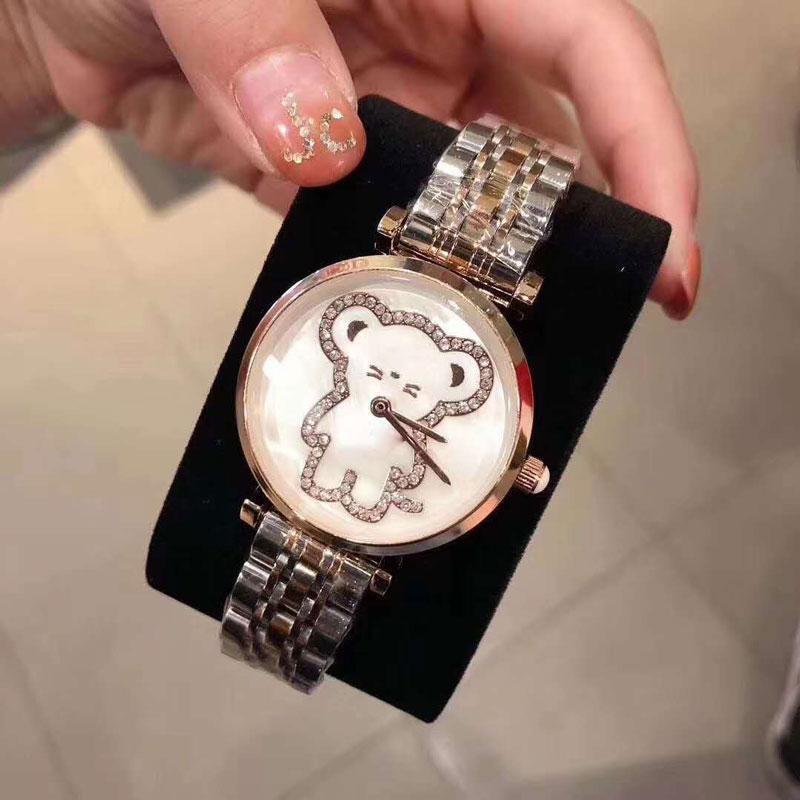 2019 cristal senhoras vestido de diamantes Relógios Brand Watch Mulheres Rose Gold Quartz relógio de pulso Feminino de aço inox Relógio Waterproof