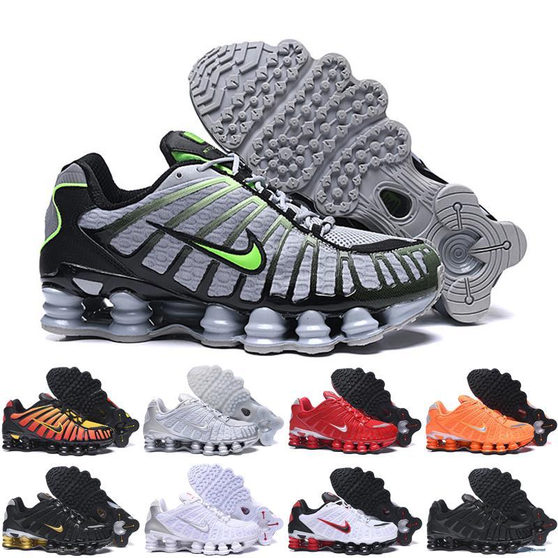 Nike Air Max Shox-TL1 Новый TL Мужчины Женщины тройной черный Разводят кроссовки DELIVER OZ NZ Mens Clay оранжевый спортивные кроссовки спорта кроссовки 40-46