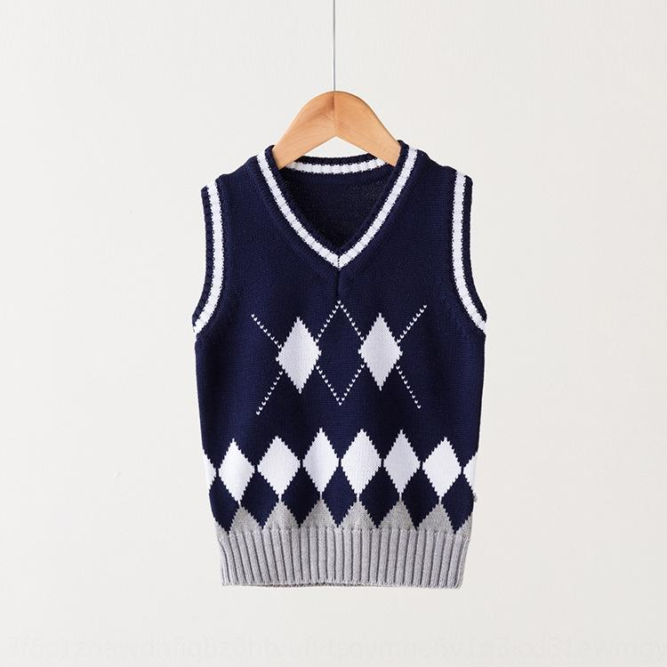 CBn46 ropa de algodón puro 2019 otoño y el invierno de la escuela del estilo de Nueva Corea uniforme del chaleco de ropa infantil para niños y niñas de cinco niños