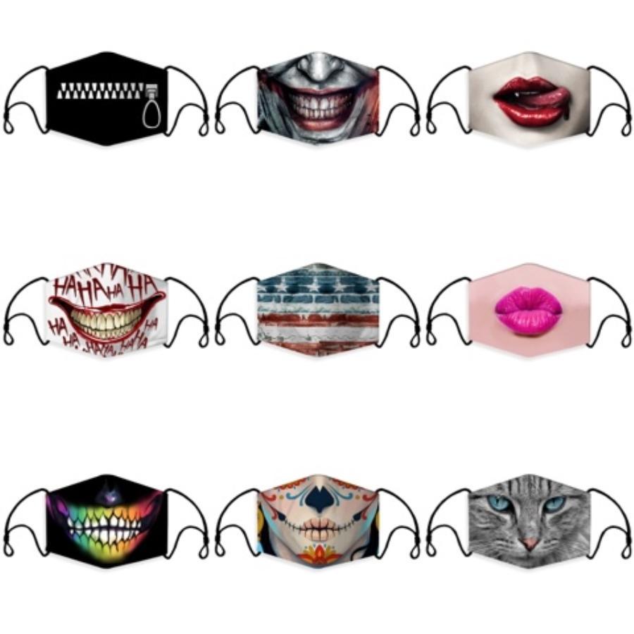 Bireysel 10 Renkler # 903 toz geçirmez Kirliliği Yıkanabilir Yeniden kullanılabilir Bez Maskesi Packaging ile Tasarımcı Kamuflaj Yüz Ağız Er Maskesi