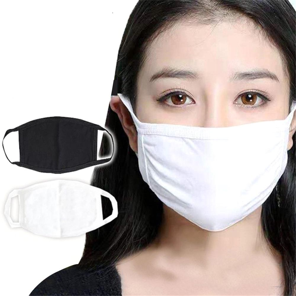 Designer anti-poeira Cotton Mouth Máscara Facial máscaras pretas de protecção Unisex máscara da mulher do homem Vestindo preto Moda reutilizável Confortável