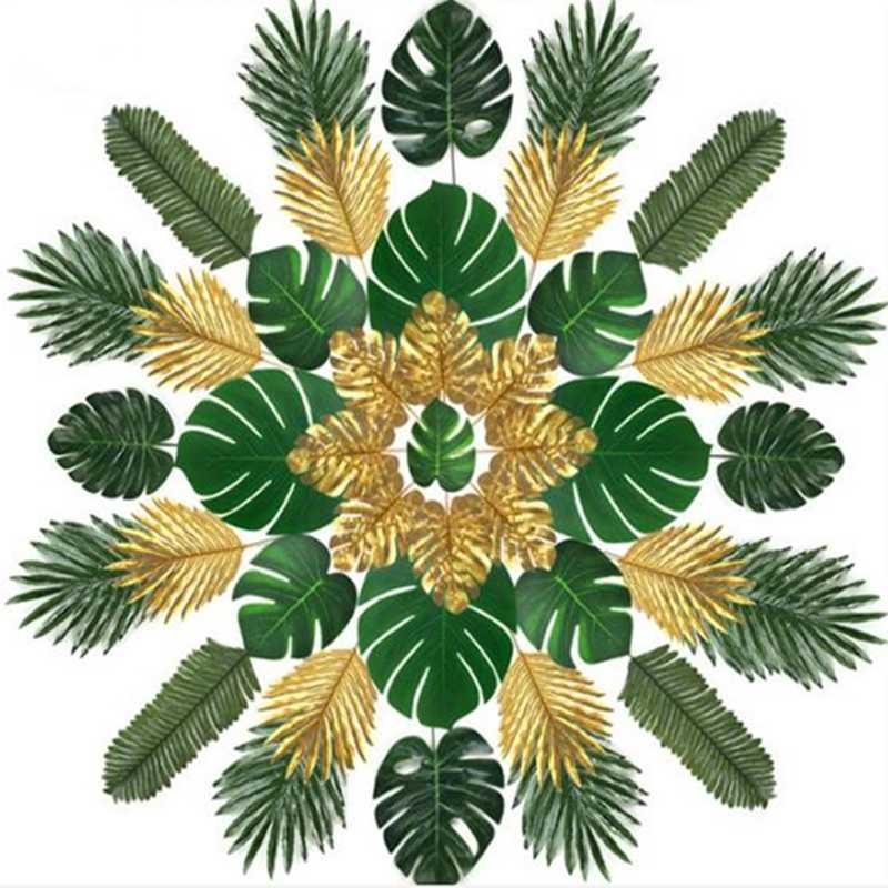 2020 Artificial Plants Artificial Leaves Combination Package Hawaiian Luau Theme Party Decor Home Garden Decoration Photography Decor From Greenliv 23 9 Dhgate Com