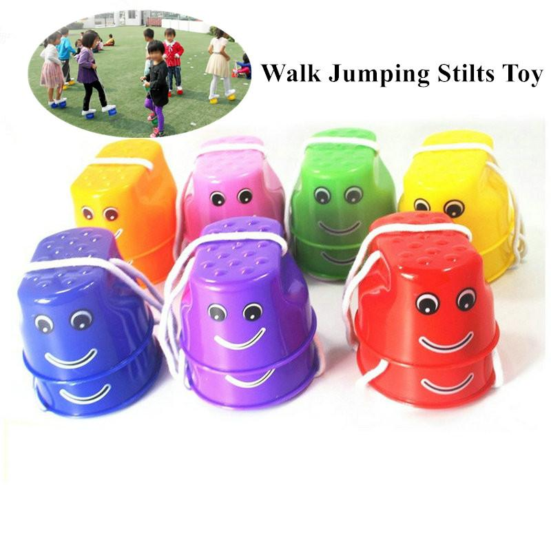 1PCS Walk Jumping Stilts Toy with Wing Balance Shoes Children Sports Funny Gadgets Amusement Kids Outdoor Game