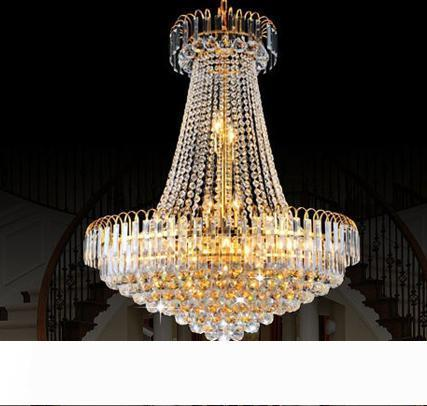 Factory Price!!! Cheap New Royal Empire Golden Crystal chandelier Light French Crystal Ceiling Pendant Lights DHL Fast Shipping