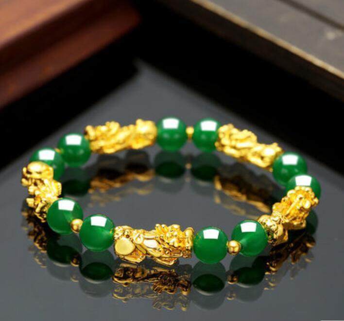 PI xiu Goldarmband schwarz Achat Armband für Männer und Frauen Feiertagsgeschenk Sicken Armband schnell heiße Art