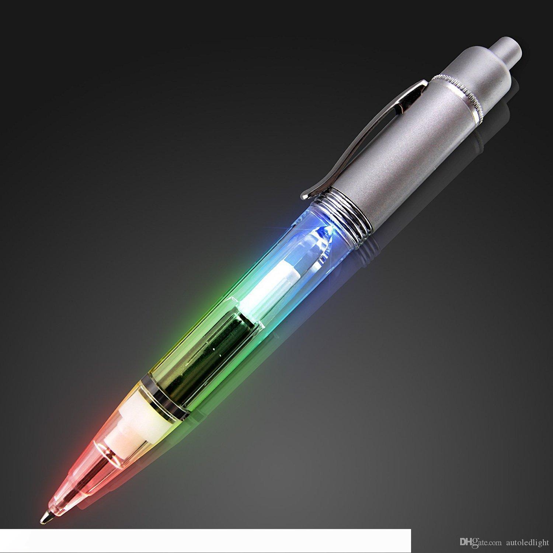 LED Pen Light up Pen Light pour Writer nuit avec Recharges supplémentaires conduit stylos à bille