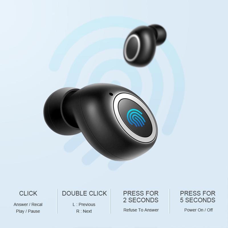 BOHM MINI TWS 헤드폰 무선 폰 드 ouvido 고음질 이어폰 블루투스 5.0 이어폰 인 - 이어 스마트 폰의 경우 스포츠 헤드셋