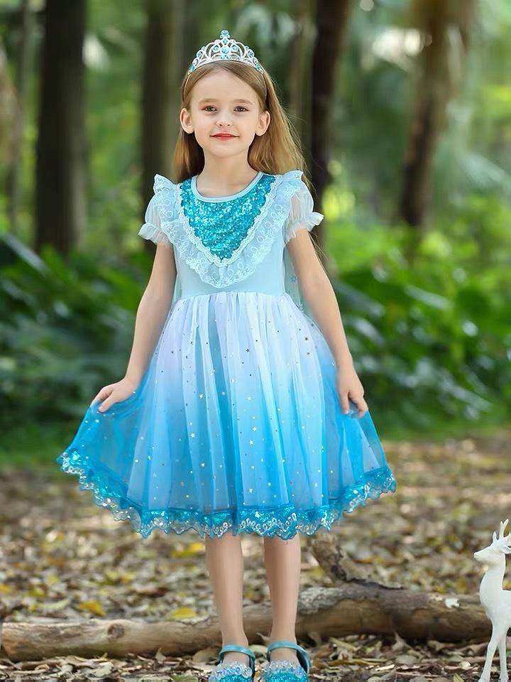 ملكة الثلج 2 بنات الأبيض AnnaandElsa هالوين اللباس الطفل عيد الميلاد للأطفال الرضع أثواب الكريسمس الاطفال عطلة رسمية T200713