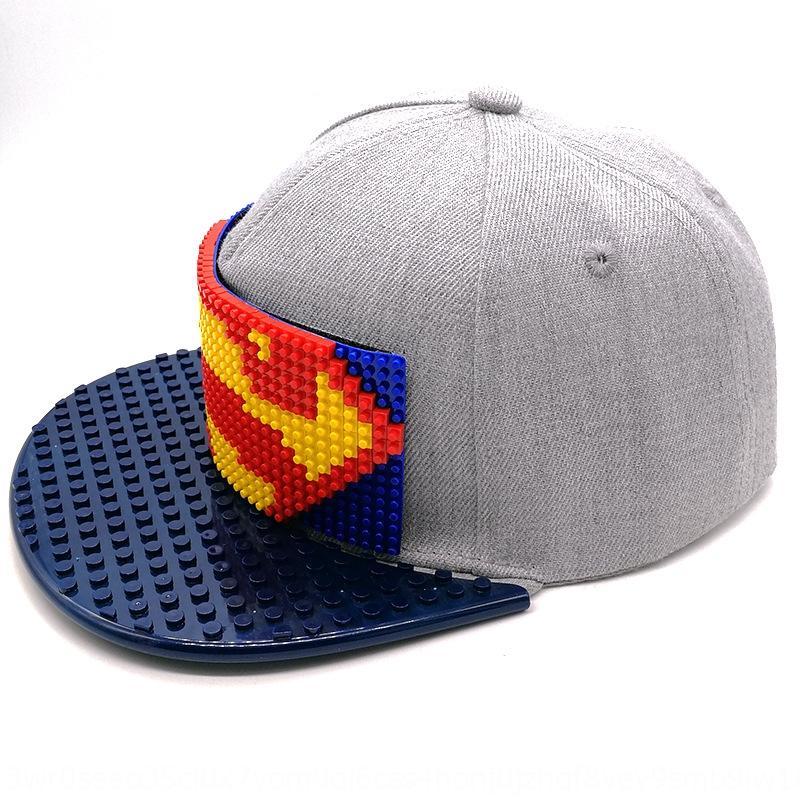 xRiQQ Kore kap kap Yapı taşı hiphop moda Çocuk hip-hop yapı taşı Lego örgütü Büyük şapka kişiselleştirilmiş stude monte