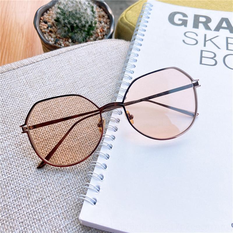 2020 novo quadro polígono personalizado Magro sol óculos de sol óculos de sol à prova de UV das mulheres decorativos finos
