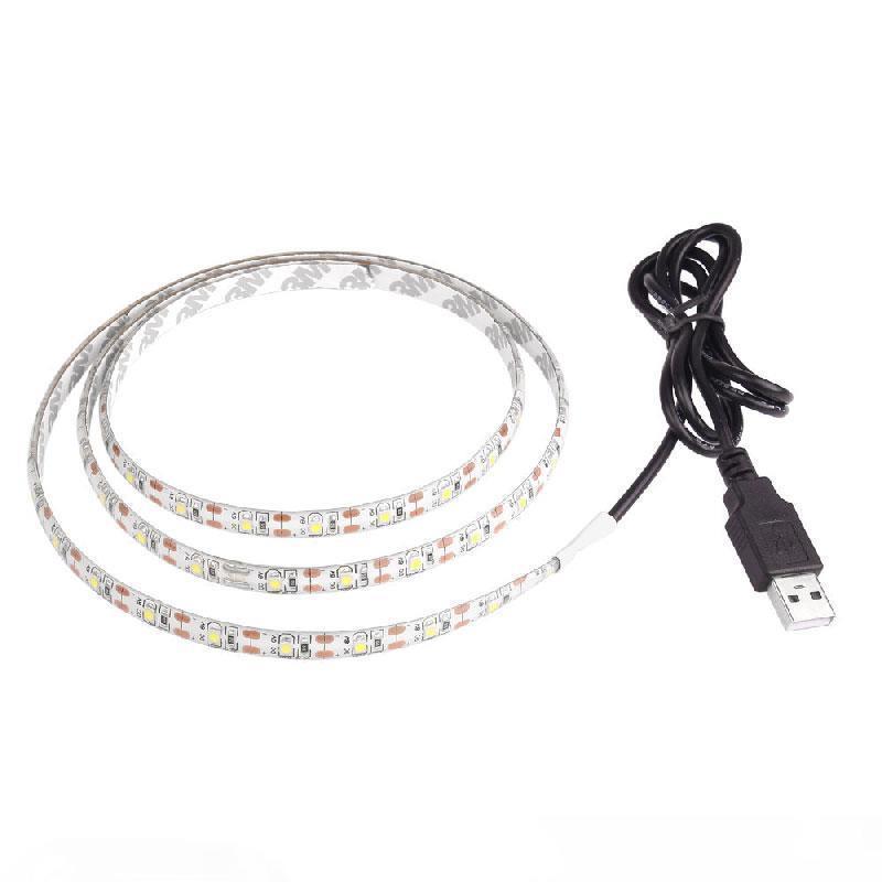 5V 50 cm 1m 2m 3m 4m 5m USB-Kabel Power LED-Streifen Licht Lampe SMD 2835 Schreibtischdekor Lamp Tape für TV Hintergrundbeleuchtung