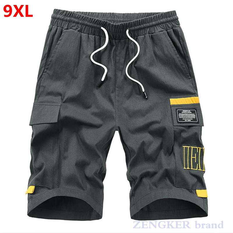 Summer army green plus size men's new loose casual tooling shorts tide brand large size shorts 6xl 7xl 9xl streetwear
