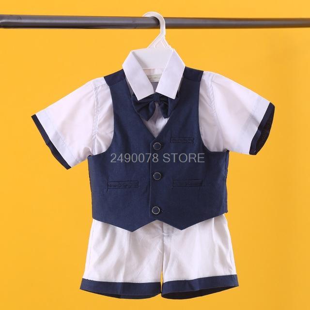 Costume Desempenho 2020 Suit Flor Meninos casamento camisa colete terno Shorts aniversário dos meninos Formal vestido de festa para crianças Violin Piano