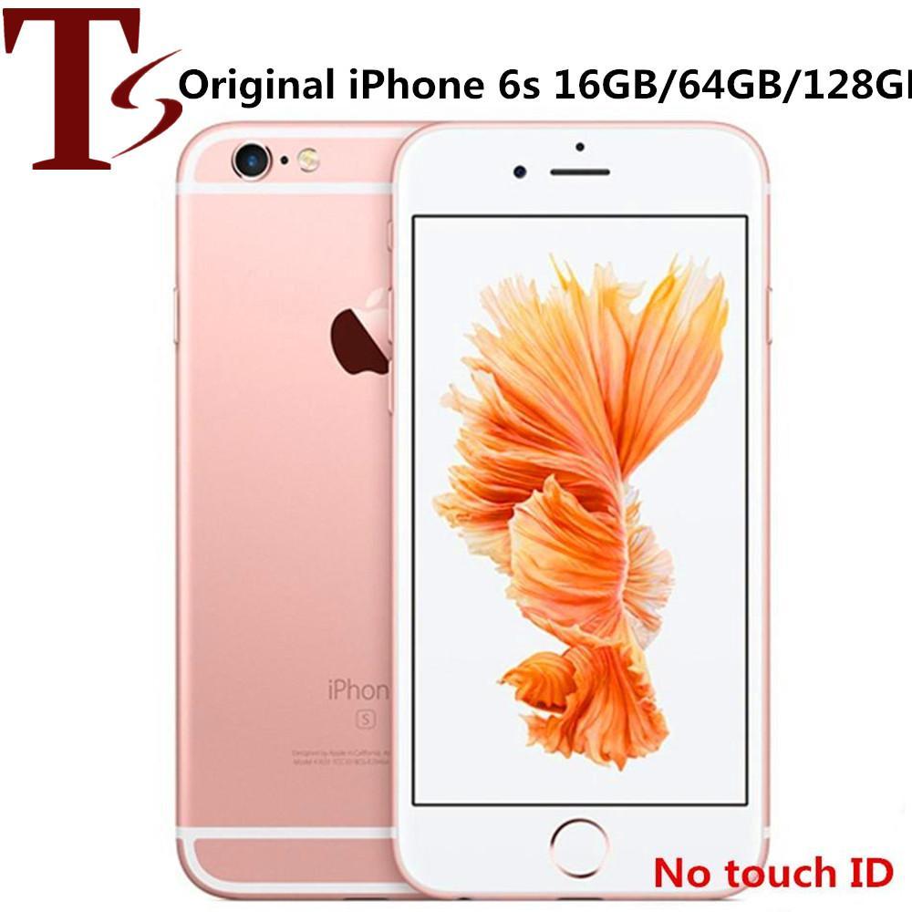 تم تجديده الأصل ابل اي فون 6S 4.7 بوصة بدون بصمات الأصابع IOS A9 16/32 / 64 / 128GB ROM 12MP مفتوح 4G LTE الهاتف