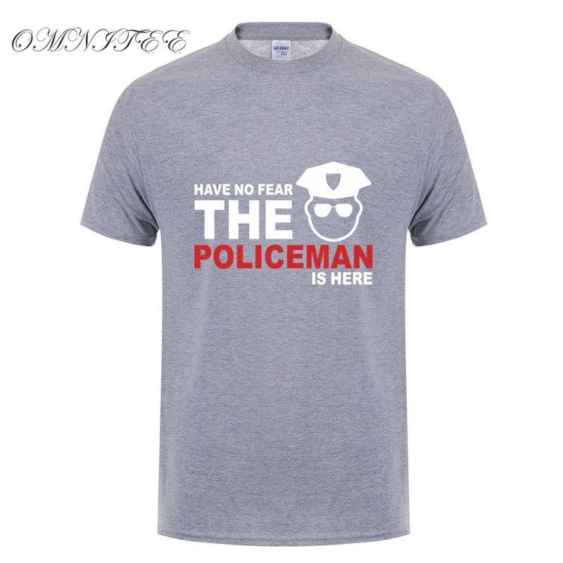 Yaz Erkekler Tişörtlü Var Yok Fear Polis Tişört Pamuk Kısa Kollu T Shirt Erkekler Tees En Xs-5XL Is Here
