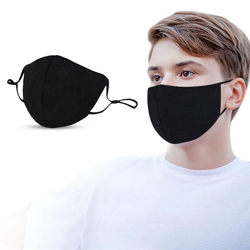 موضة الأسود قناع الوجه قابل للتعديل الأذن الشريط الغبار أقنعة للرجال والنساء تنفس مكافحة الضباب الدخاني واقية قناع شحن مجاني