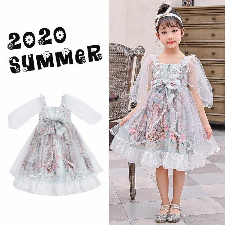 Spanish Court Style Princess Dress Summer ow Lace Printed Design Lovely Children Lolita Dress Cute Cotton For Girls ZL647 NMi1#